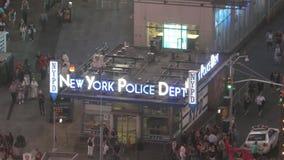 Χρονικό τετράγωνο σταθμών NYPD απόθεμα βίντεο