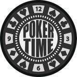 Χρονικό τσιπ πόκερ απεικόνιση αποθεμάτων