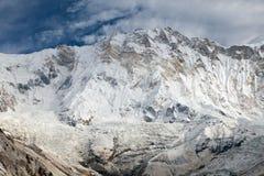 χρονικών Τοποθετήστε Annapurna από το στρατόπεδο βάσεων Annapurna Στοκ φωτογραφία με δικαίωμα ελεύθερης χρήσης
