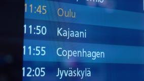 Χρονοδιάγραμμα αερολιμένων, ενημέρωση πληροφοριών πτήσης αναχώρησης, διεθνείς πτήσεις απόθεμα βίντεο