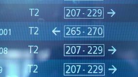 Χρονοδιάγραμμα αερολιμένων, ενημέρωση πληροφοριών πτήσης αναχώρησης, διεθνείς πτήσεις φιλμ μικρού μήκους