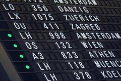 Χρονοδιάγραμμα πτήσης Στοκ Φωτογραφίες