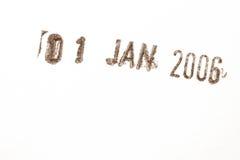 χρονολογήστε το γραμματόσημο Στοκ Φωτογραφία