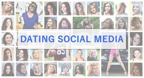 Χρονολόγηση των κοινωνικών μέσων Το κείμενο τίτλου απεικονίζεται στο backgroun στοκ εικόνες