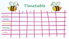Χρονοδιάγραμμα-μέλισσες Στοκ εικόνες με δικαίωμα ελεύθερης χρήσης