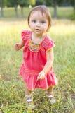 1χρονο κορίτσι στον περίπατο στο πάρκο Στοκ Εικόνες