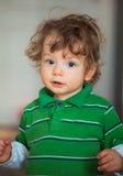 1χρονο πορτρέτο αγοράκι Στοκ Εικόνες
