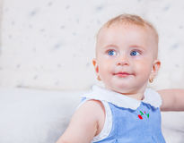 1χρονο πορτρέτο κοριτσάκι Στοκ Εικόνες