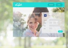 Χρονολόγηση App της διεπαφής Στοκ φωτογραφίες με δικαίωμα ελεύθερης χρήσης