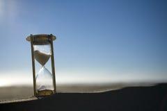 χρονόμετρο άμμου αμμόλοφων Στοκ Εικόνες