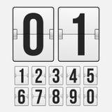 Χρονόμετρο αντίστροφης μέτρησης, άσπρος μηχανικός πίνακας βαθμολογίας χρώματος Στοκ Εικόνες
