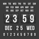 Χρονόμετρο αντίστροφης μέτρησης και ημερομηνία, ημερολογιακός πίνακας βαθμολογίας Στοκ φωτογραφία με δικαίωμα ελεύθερης χρήσης