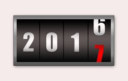 χρονόμετρο αντίστροφης μέτρησης του 2017 που απομονώνεται στο άσπρο υπόβαθρο Στοκ εικόνα με δικαίωμα ελεύθερης χρήσης