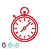 Χρονόμετρο με διακόπτη σε τέσσερις επιλογές χρώματος Περίληψη διανυσματικό eps10 χρονομέτρων με διακόπτη ελεύθερη απεικόνιση δικαιώματος