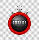 Χρονόμετρο με διακόπτη με τα κόκκινα σύνορα ελεύθερη απεικόνιση δικαιώματος