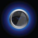 Χρονόμετρο με διακόπτη με το oreol στο μαύρο υπόβαθρο Στοκ εικόνα με δικαίωμα ελεύθερης χρήσης