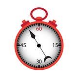 Χρονόμετρο με διακόπτη που απομονώνεται πέρα από το λευκό Στοκ Εικόνες