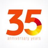 35 χρονών λογότυπο Στοκ εικόνες με δικαίωμα ελεύθερης χρήσης