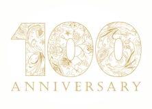 100 χρονών πολυτελείς αριθμοί εορτασμού διανυσματική απεικόνιση