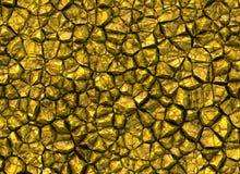Χρυσά λάμποντας υπόβαθρα σύστασης ανακούφισης πετρών Στοκ Εικόνες