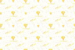 Χρυσά δέντρα φθινοπώρου σχεδίων και φύλλα φθινοπώρου Στοκ φωτογραφία με δικαίωμα ελεύθερης χρήσης