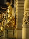 Χρυσά αγάλματα στη Στοκχόλμη, Σουηδία Στοκ Φωτογραφία