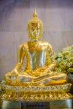 Χρυσά αγάλματα του Βούδα που διακοσμούν το βουδιστικό ναό Στοκ Εικόνες