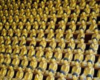 Χρυσά αγάλματα του Βούδα σε Busan Στοκ φωτογραφία με δικαίωμα ελεύθερης χρήσης