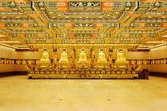 χρυσά αγάλματα του Βούδα Στοκ Εικόνες