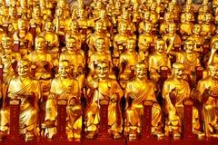 Χρυσά αγάλματα του Lohans Στοκ Εικόνα