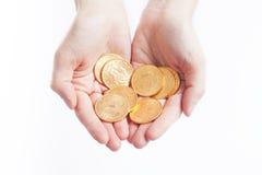 Χρυσά αμερικανικά δολάρια νομισμάτων Στοκ Εικόνα