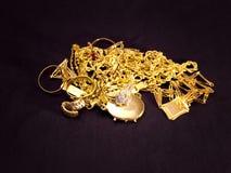 Χρυσά αντικείμενα Στοκ Εικόνες
