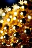 χρυσά αστέρια ανασκόπησης Στοκ Εικόνα