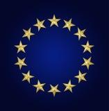 χρυσά αστέρια κύκλων Στοκ Εικόνα