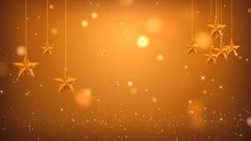 Χρυσά αστέρια μήκους σε πόδηα διανυσματική απεικόνιση