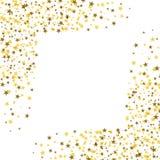Χρυσά αστέρια με το άσπρο τετράγωνο στη μέση abstract backgroun Στοκ Εικόνα