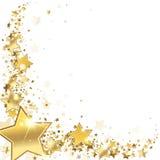 Χρυσά αστέρια πλαισίων Στοκ εικόνα με δικαίωμα ελεύθερης χρήσης