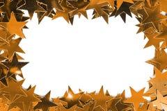 χρυσά αστέρια πλαισίων Στοκ Εικόνες