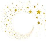 Χρυσά αστέρια ρευμάτων Στοκ εικόνες με δικαίωμα ελεύθερης χρήσης