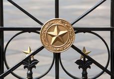 χρυσά αστέρια σιδήρου πυ&lamb Στοκ εικόνες με δικαίωμα ελεύθερης χρήσης