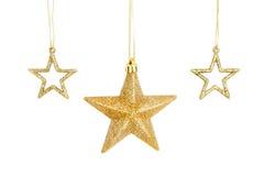 χρυσά αστέρια τρία Χριστο&upsilo Στοκ φωτογραφία με δικαίωμα ελεύθερης χρήσης