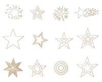 χρυσά αστέρια Στοκ φωτογραφίες με δικαίωμα ελεύθερης χρήσης