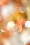 Χρυσά αφηρημένα Χριστούγεννα Defocused Στοκ εικόνα με δικαίωμα ελεύθερης χρήσης