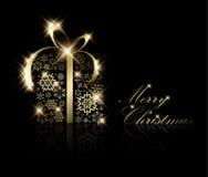 χρυσά γίνοντα παρόντα snowflakes Χρι&si ελεύθερη απεικόνιση δικαιώματος