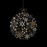 χρυσά γίνοντα snowflakes Χριστουγ ελεύθερη απεικόνιση δικαιώματος