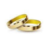 Χρυσά γαμήλια δαχτυλίδια Στοκ φωτογραφία με δικαίωμα ελεύθερης χρήσης