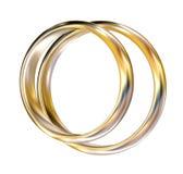χρυσά δαχτυλίδια Ελεύθερη απεικόνιση δικαιώματος
