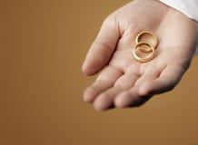 χρυσά δαχτυλίδια Στοκ Εικόνα