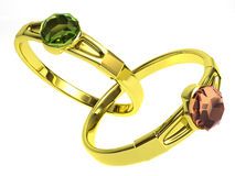 χρυσά δαχτυλίδια Στοκ Φωτογραφία