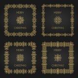 Χρυσά διακοσμητικά πλαίσια καθορισμένα Στοκ φωτογραφία με δικαίωμα ελεύθερης χρήσης